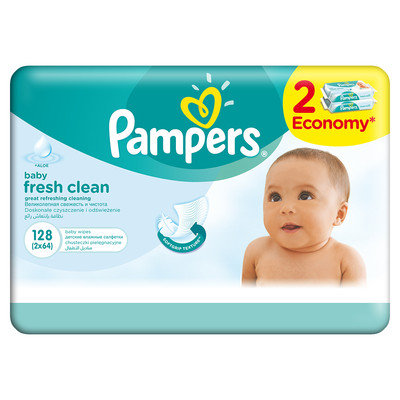 Pampers Мокри кърпи 2x64 бр.  0201726